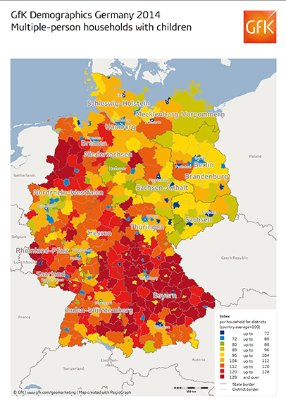Map Of The Month GfK GeoMarketing - Germany map 2015